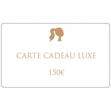 150€ Carte cadeau luxe