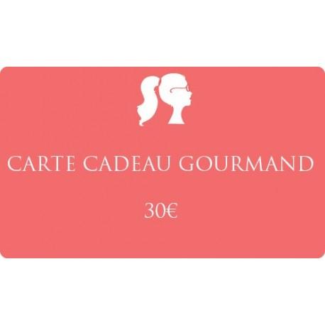 30€ Carte cadeau gourmand