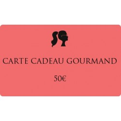 50€ Carte cadeau gourmand
