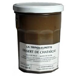 Dessert de châtaigne - LA TRINQUELINETTE - crème de châtaigne pour vos desserts et patisseries