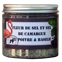 Basil, Pepper Camargue Salt