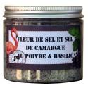 Fleur de sel Poivre Basilic