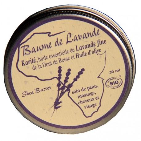 Baume de lavande au karité et huiles essentielles BIO