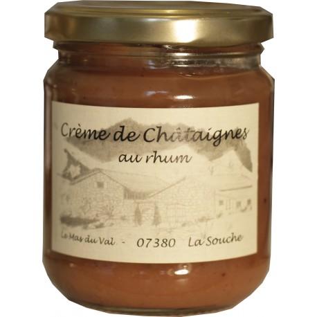 Crème de châtaignes au Rhum - Le Mas du Val - Ardèche