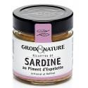 Rillettes de sardine au piment d'Espelette