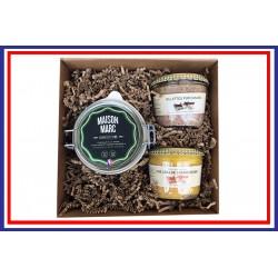 Coffret Foie gras, rillettes & cornichons français