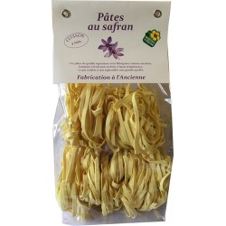 Saffron tagliatelle pasta