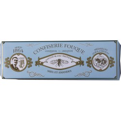 Nougat miel amandes - Nougat blanc tendre - Confiserie Fouque