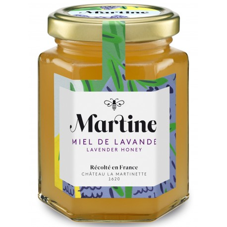 Lavender Honey 250g, Martine Honey by Château La Martinette, France