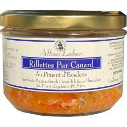 Rillettes 100% Canard au piment d'Espelette - Alban Laban - Conserve 180g