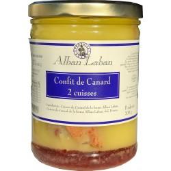 Alban Laban - Confit de canard 2 cuisses - 700g
