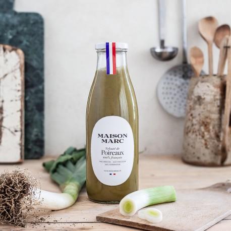 Velouté de poireaux - Maison Marc - Soupe de légumes cultivés en France et cuisinée sans conservateur.
