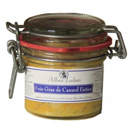 Foie gras de canard entier 95g - La ferme d'Alban laban