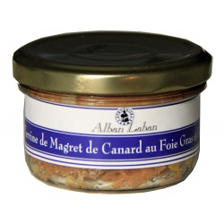 Terrine de magret de canard au foie gras et figue - La ferme d'Alban Laban.