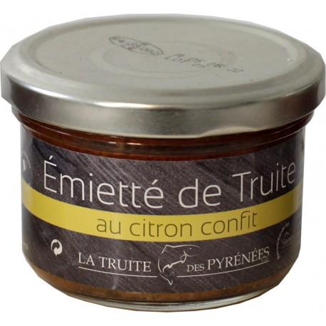Emietté de truite au citron confit - La Truite des Pyrénées - Produit de terroir français