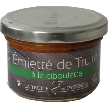 Emietté de truite à la ciboulette - La truite des Pyrénées - Produit de terroir français
