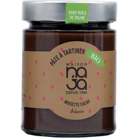 Pâte à tartiner noisette cacao intene BIO - Maison NAJA - Sans Huile de Palme