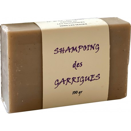 Shampoing solide des garrigues