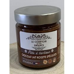 Pâte à tartiner chocolat lait noisette spéculos  - Le comptoir de mon enfance