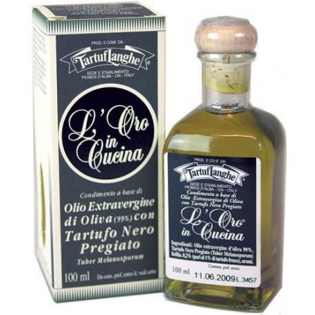 Huile d'Olive Extra Vierge à la Truffe Noir (tuber melanosporum) - ORO IN CUCINA