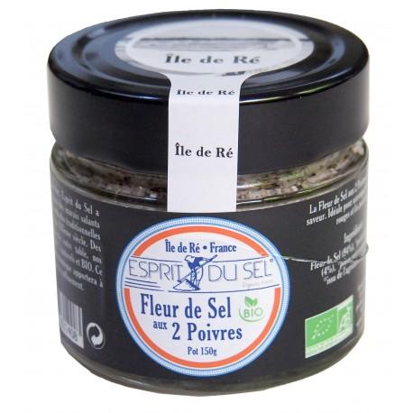 Fleur de sel aux deux poivres de l'île de Ré