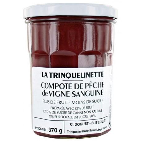 Compote de Pêche de Vigne La Trinquelinette