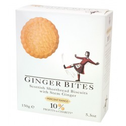 Ginger bites - shortbread biscuits