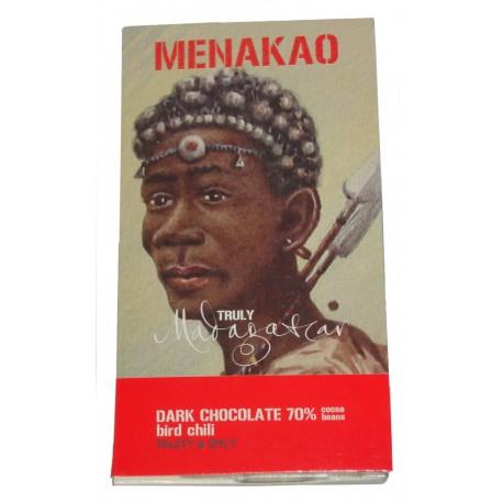 Tablette de chocolat noir 70% au piment langue d'oiseau