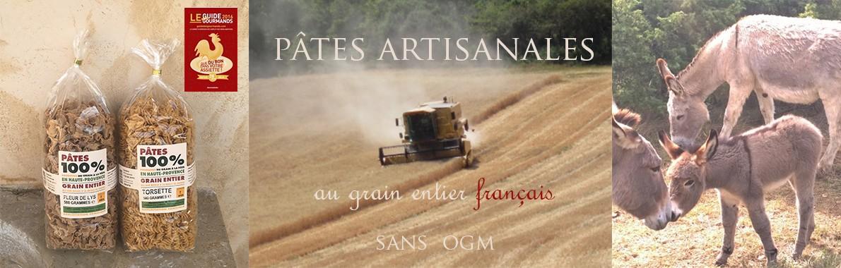 Pâtes artisanales - Made in France - au grain entier