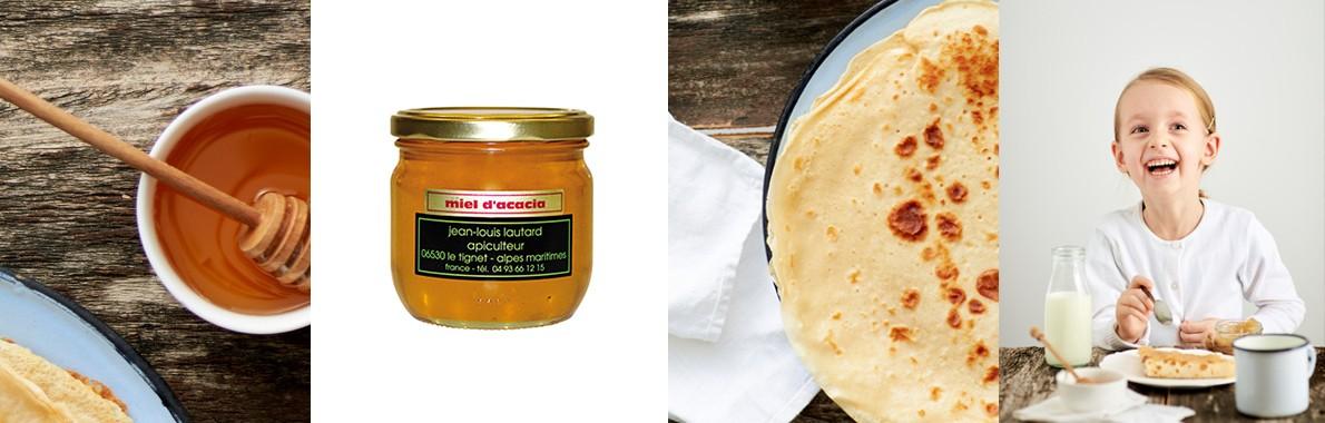 Crêpes au miel d'acacia